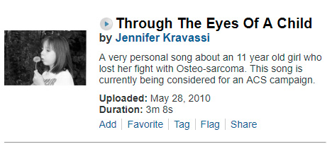 Jennifer Kravassi - Through the Eyes of a Child Dedicated to Codi Frazier